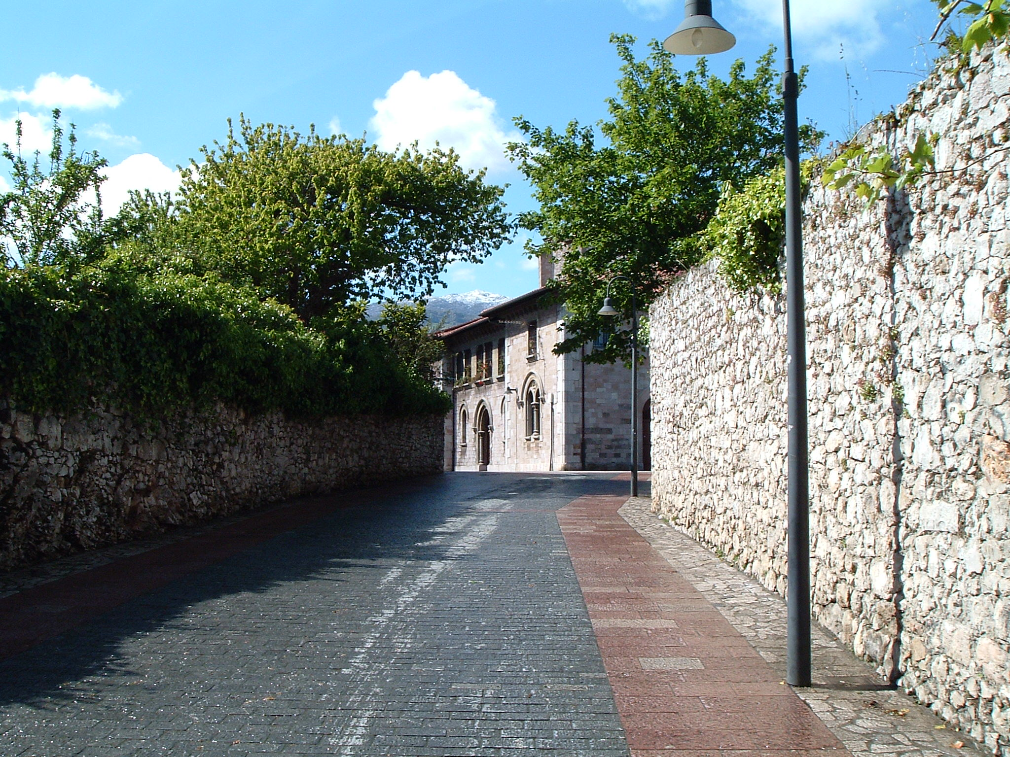 Cobbled street in Llanes